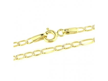 1113-5 Zlatý řetízek 45cm ze žlutého zlata