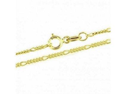 1105-5 Zlatý řetízek 42cm žluté zlato