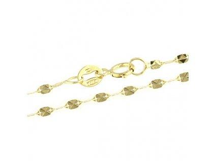 1385-5 Zlatý řetízek 45cm žluté zlato
