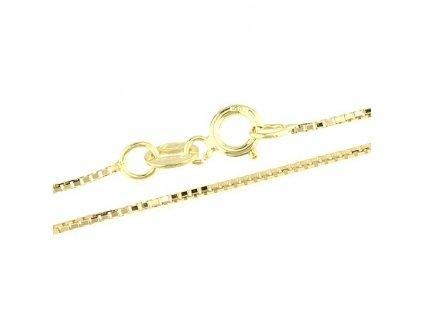1027-5 Zlatý řetízek 45cm ze žlutého zlata