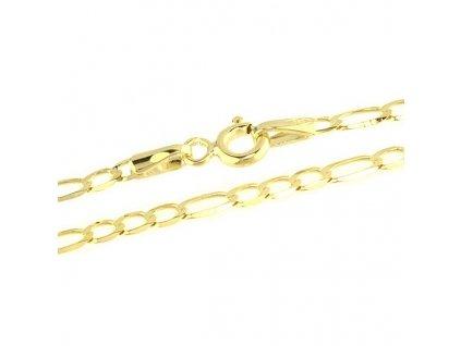 1007-5 Zlatý řetízek 50cm žluté zlato