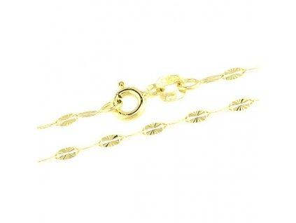 Zlatý řetízek 50cm žluté zlato