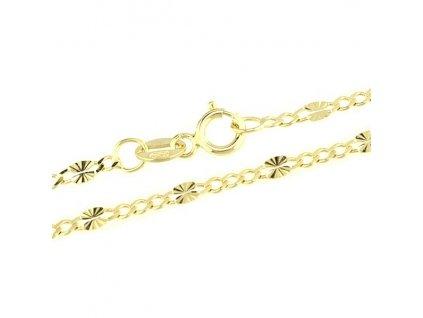 1237-5 Zlatý řetízek 50cm žluté zlato