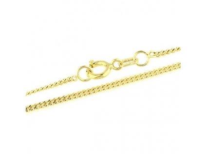 Zlatý řetízek 55cm žluté zlato