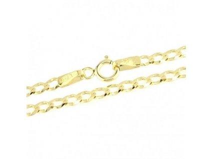 1193-5 Zlatý řetízek 45cm žluté zlato