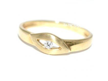 Briliantový prsten V54 žluté zlato
