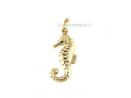 Mořský koník ze žlutého zlata