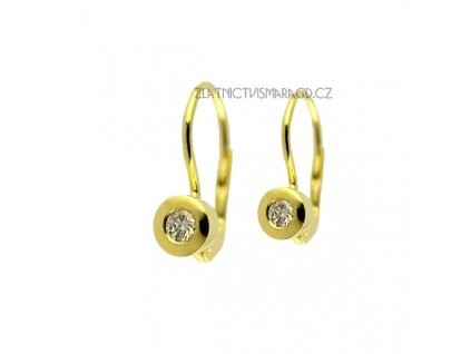 Briliantové náušnice ze žlutého zlata