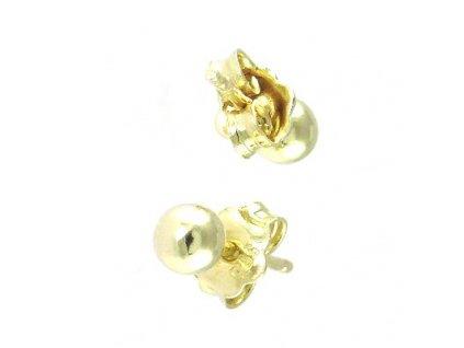 Zlaté náušnice 4mm