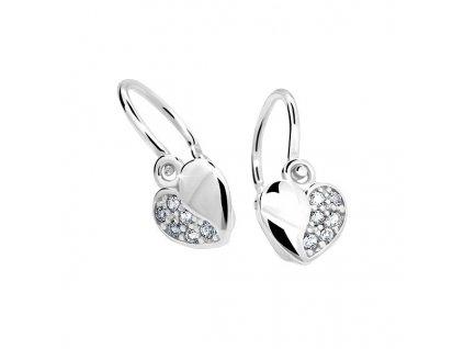 Srdíčkové náušnice ND2160 Diamonds s brilianty – bílé zlato