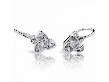 Roztomilé dětské náušnice ND2203 Diamonds bílé zlato s brilianty