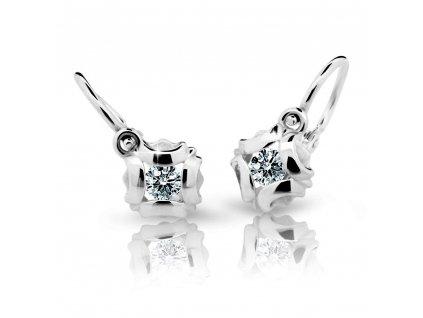 Briliantové náušnice dětské ND2216 Diamonds z bílého zlata