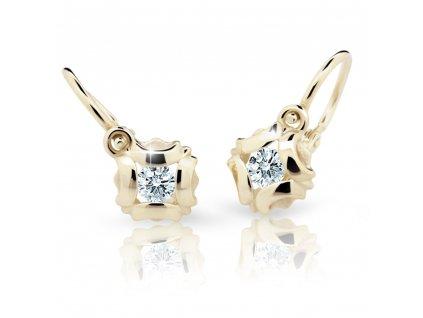 Briliantové náušnice dětské ND2216Z Diamonds ze žlutého zlata