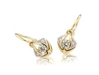 Kouzelné dětské náušnice ND2217Z Diamonds žluté zlato s brilianty