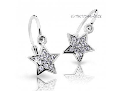 Hvězdičkové náušnice s brilianty – dětské ND2228 Diamonds bílé zlato