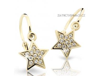 Hvězdičkové náušnice s brilianty – dětské ND2228Z Diamonds žluté zlato