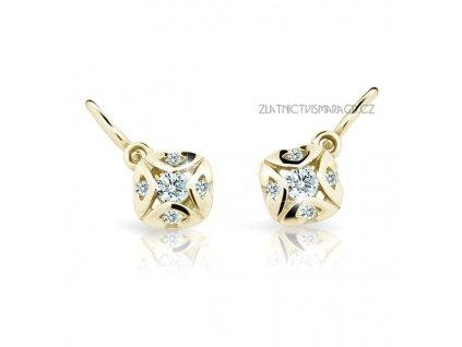 Náušnice žluté zlato s brilianty ND2250Z Diamonds – dětské