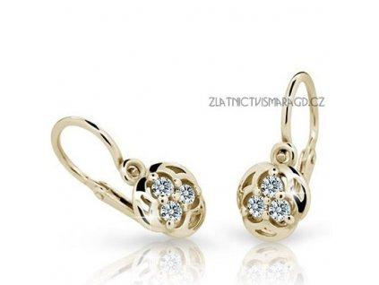 Kouzelné náušnice žluté zlato – dětské ND2252Z Diamonds s brilianty