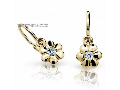 Kytičky – dětské náušnice s brilianty ND1736Z Diamonds žluté zlato