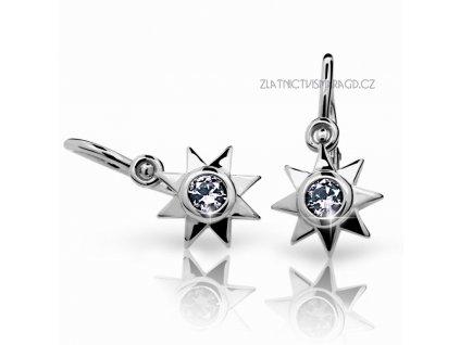 Hvězdy – náušnice bílé zlato ND1995 Diamonds s brilianty