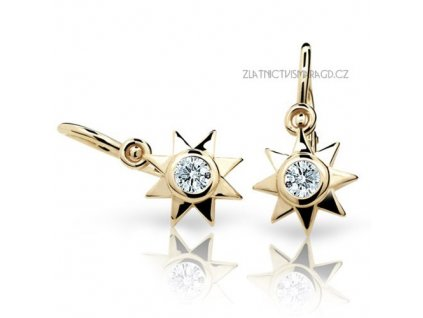 Hvězdy – náušnice žluté zlato ND1995Z Diamonds s brilianty