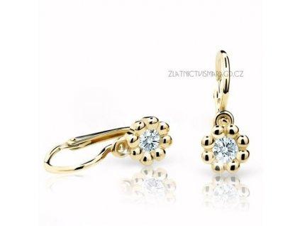 Luxusní náušnice žluté zlato ND2030Z Diamonds – dětské s brilianty