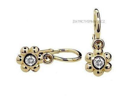 Dětské luxusní náušnice žluté zlato ND2031Z Diamonds s brilianty
