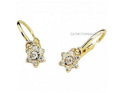 Hvězdičkové náušnice s brilianty ze žlutého zlata ND2152Z Diamonds dětské