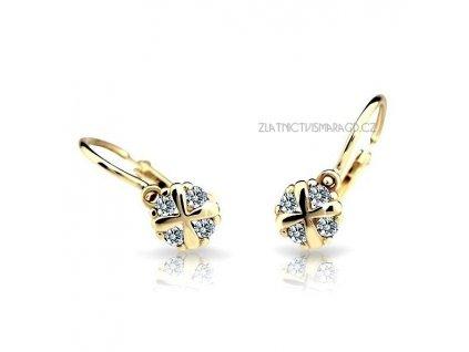 Elegantní náušnice pro holčičky ND2153Z Diamonds žluté zlato s brilianty
