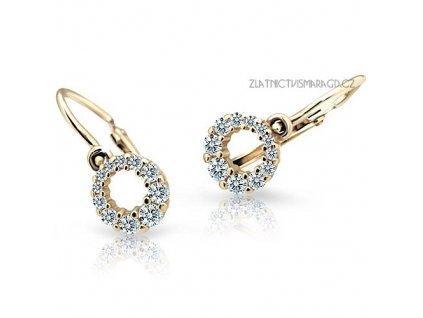 Holčičí náušnice s briliantovým okvětím ND2154Z Diamonds žluté zlato