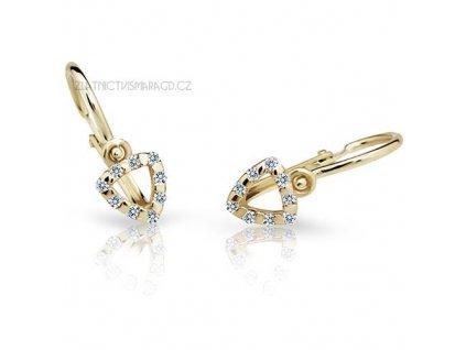 Briliantové náušnice pro holčičky ND2155Z Diamonds ze žlutého zlata