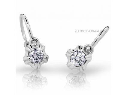 Holčičí náušnice s brilianty ND2158 Diamonds – bílé zlato
