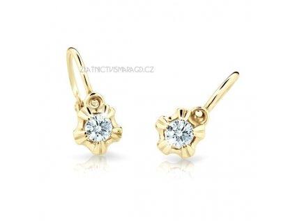 Holčičí náušnice s brilianty ND2158Z Diamonds – žluté zlato