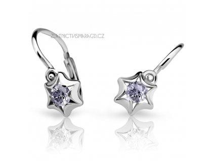 Náušnice pro holčičky ve tvaru hvězdiček ND2159 Diamonds – bílé zlato s brilianty