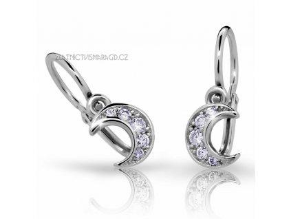Měsíční náušnice pro holčičky ND2162 Diamonds brilianty s bílým zlatem
