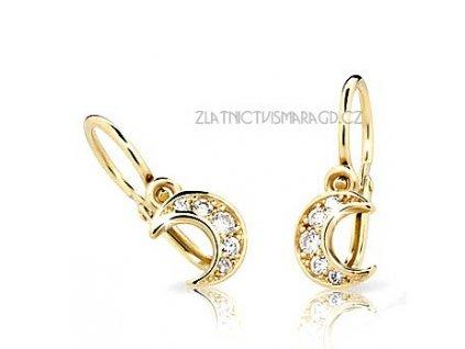 Měsíční náušnice pro holčičky ND2162Z Diamonds brilianty se žlutým zlatem