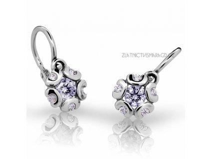 Náušnice pro miminka z bílého zlata ND2178 Diamonds + brilianty