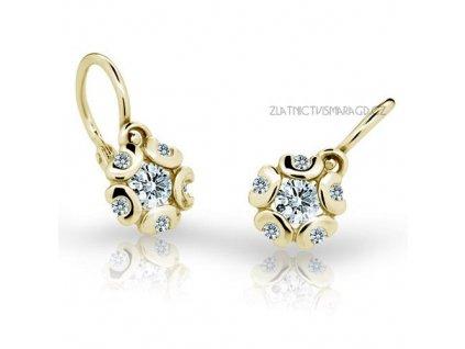 Náušnice pro miminka ze žlutého zlata ND2178Z Diamonds + brilianty