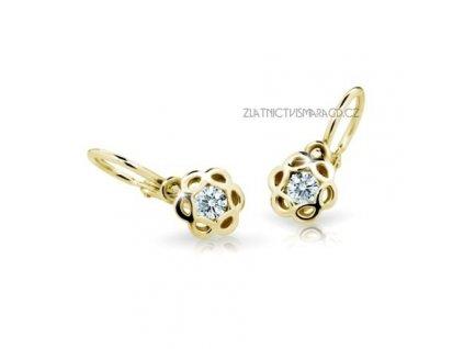 Náušnice pro mladé slečny ND2179Z Diamonds ze žlutého zlata s brilianty