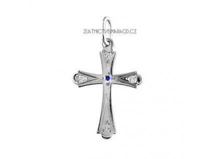 Kříž z bílého zlata – přívěšek