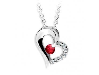 Přívěsek ve tvaru srdce s rubínem Z 2974