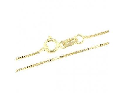 1377-5 Zlatý řetízek 42cm žluté zlato