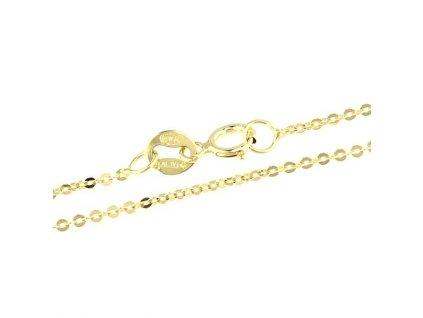 1021-5 Zlatý řetízek 40cm žluté zlato
