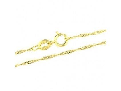 1126-5 Zlatý řetízek 42cm žluté zlato