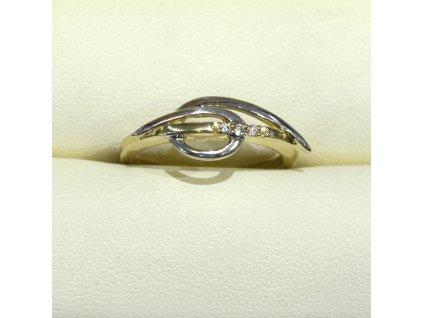 Briliantový prsten ze žlutého a bílého zlata