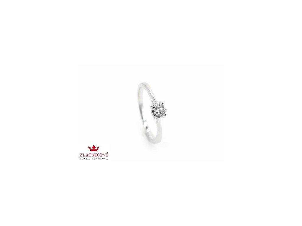 Prsten z bílého zlata s brilianty AUBR74 zlatnictvivymolovi.cz