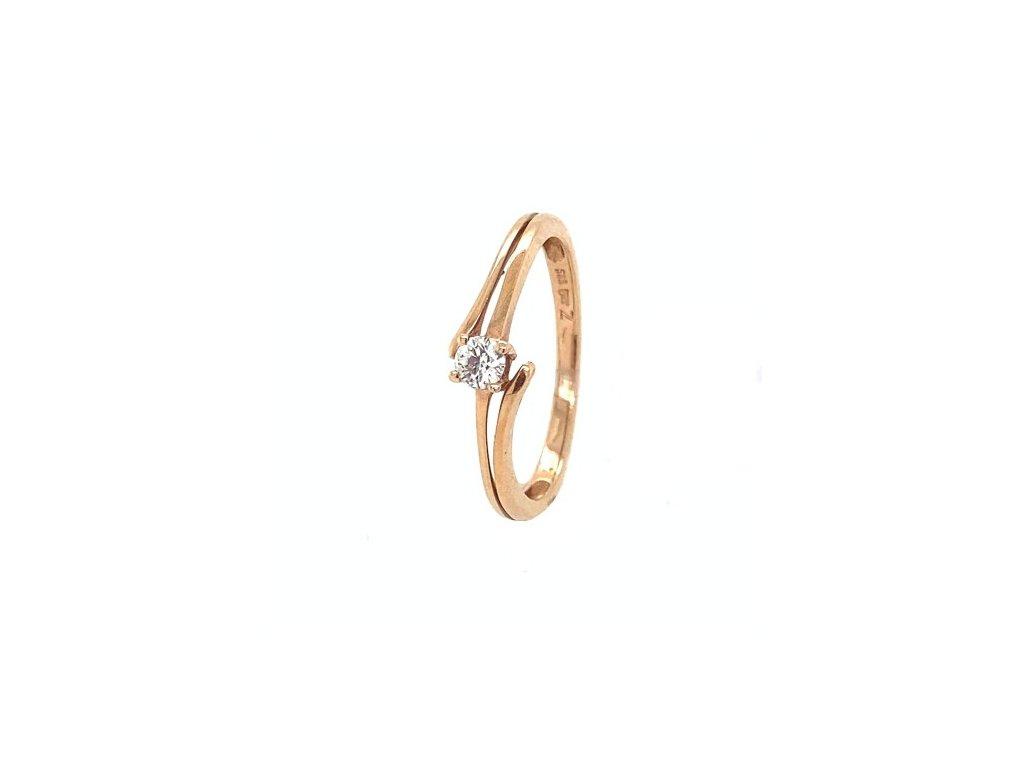 Prsten z růžového zlata se zirkonem AUZ226 zlatnictvivymolovi.cz