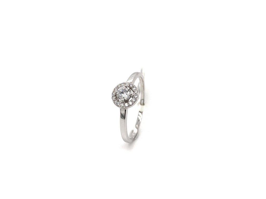Prsten s briliantem z bílého zlata AUBR121 zlatnictvivymolovi.cz