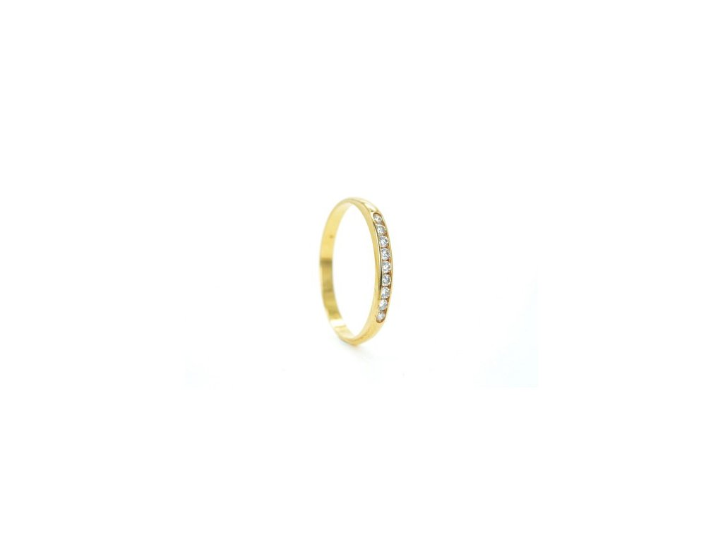 Prsten ze žlutého zlata s brilianty AUBR7 zlatnictvivymolovi.cz