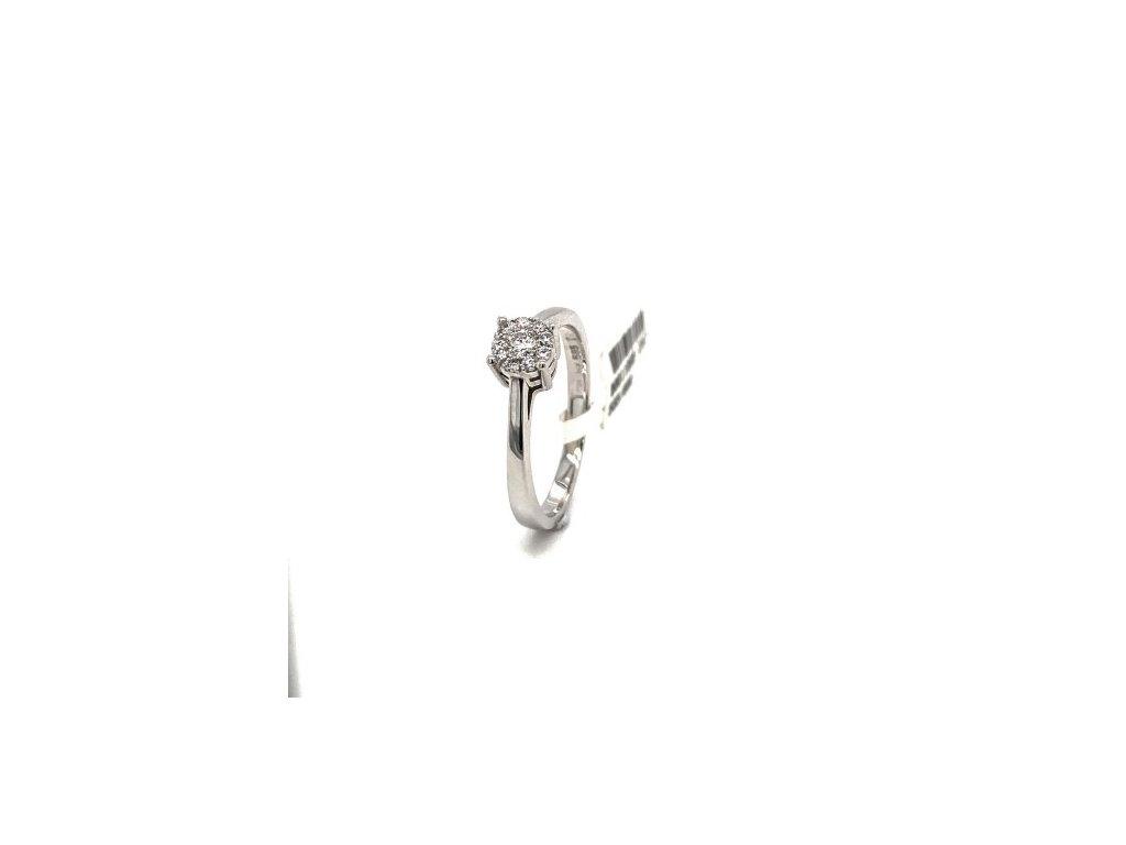 Prsten z bílého zlata s briliantem AUBR104 zlatnictvivymolovi.cz